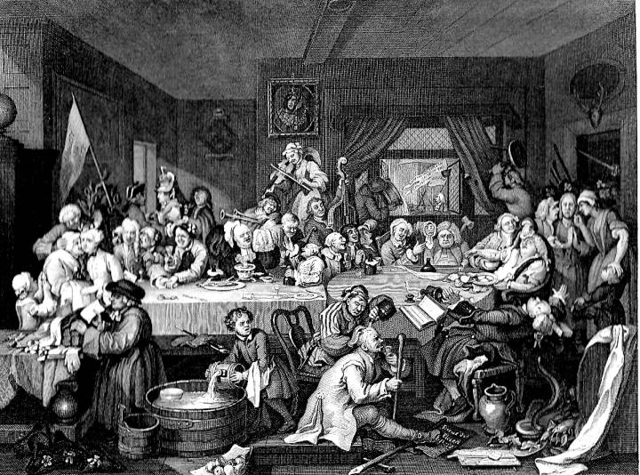William Hogarth, An Election Entertainment.