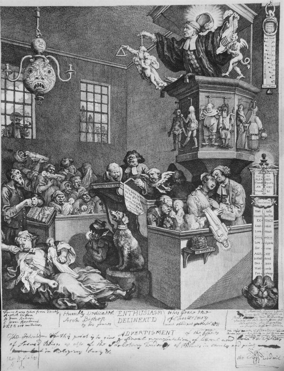 William Hogarth, Enthusiasm Delineated (1761)