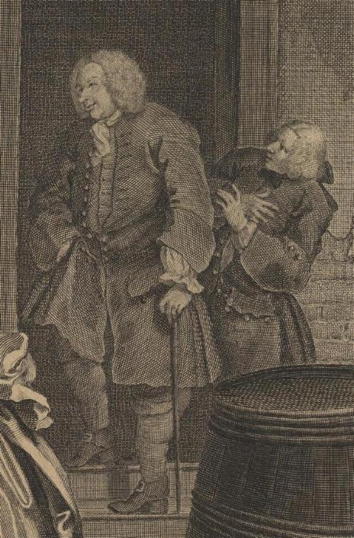 William Hogarth: A Harlot's Progress, Plate 1: Detail: Colonel Charteris.