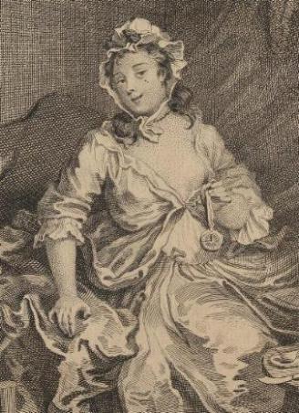 A Harlot's Progress, Plate 3: detail: harlot