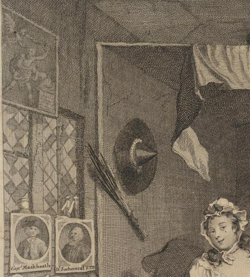William Hogarth: A Harlot's Progress, Plate 3: Detail: Isaac.