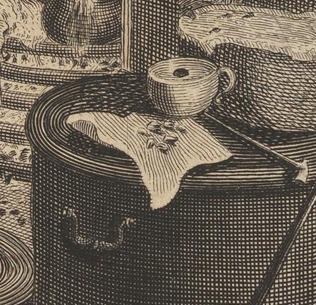 William Hogarth: A Harlot's Progress, Plate 5: Detail: Zähne.