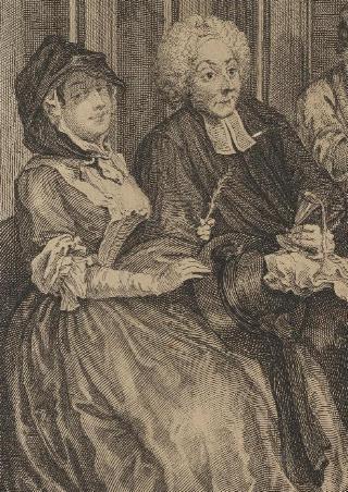 A Harlot's Progress, Plate 6: detail: clergyman
