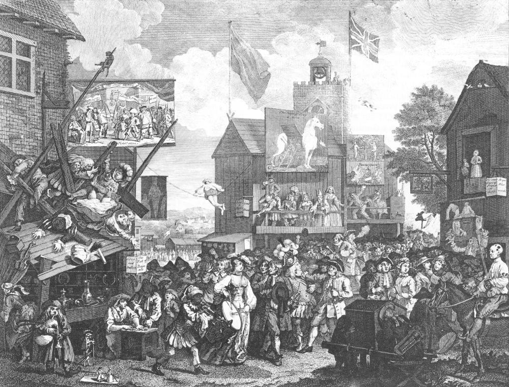 William Hogarth, 'Southwark Fair' (1735)