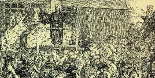 George Whitefield preaching at Leeds, 1749